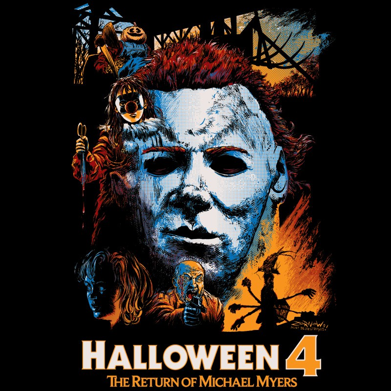 Halloween 4: The Return of Michael Myers Collage Tee